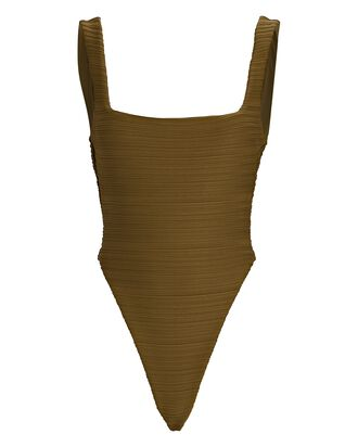 Idalia One-Piece Swimsuit, OLIVE, hi-res
