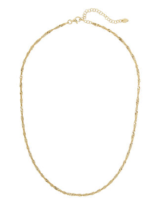 Twisted Chain Necklace, GOLD, hi-res