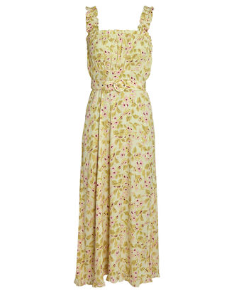 Saint Tropez Belted Floral Midi Dress, MULTI, hi-res