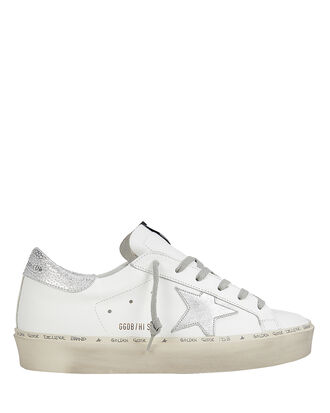 Hi Star White Leather Low-Top Sneakers, WHITE, hi-res