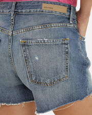 Helena Blue Distressed Shorts, BLUE DENIM, hi-res