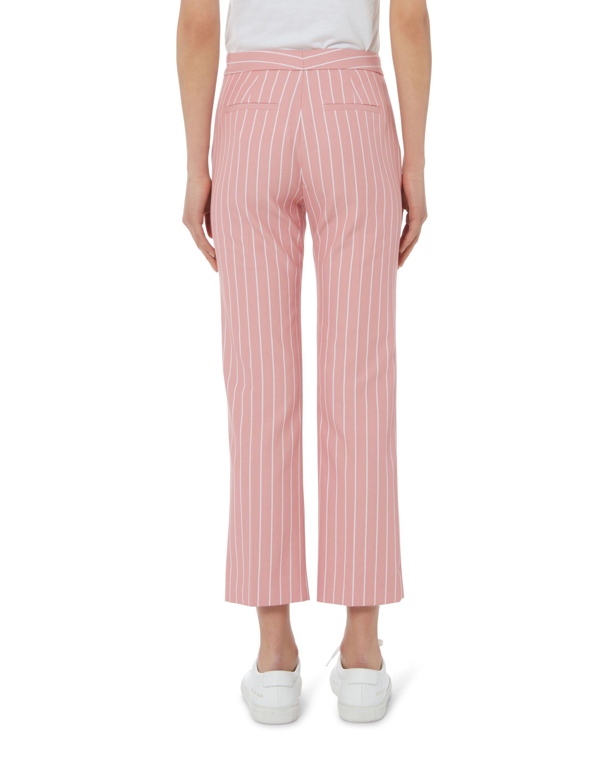 Striped Cropped Pants, PINK, hi-res