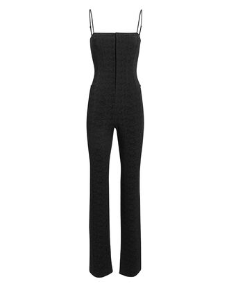 Jacquard Jumpsuit, BLACK, hi-res