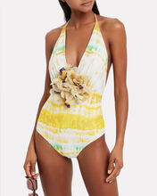 Calen One-Piece Swimsuit, YELLOW, hi-res