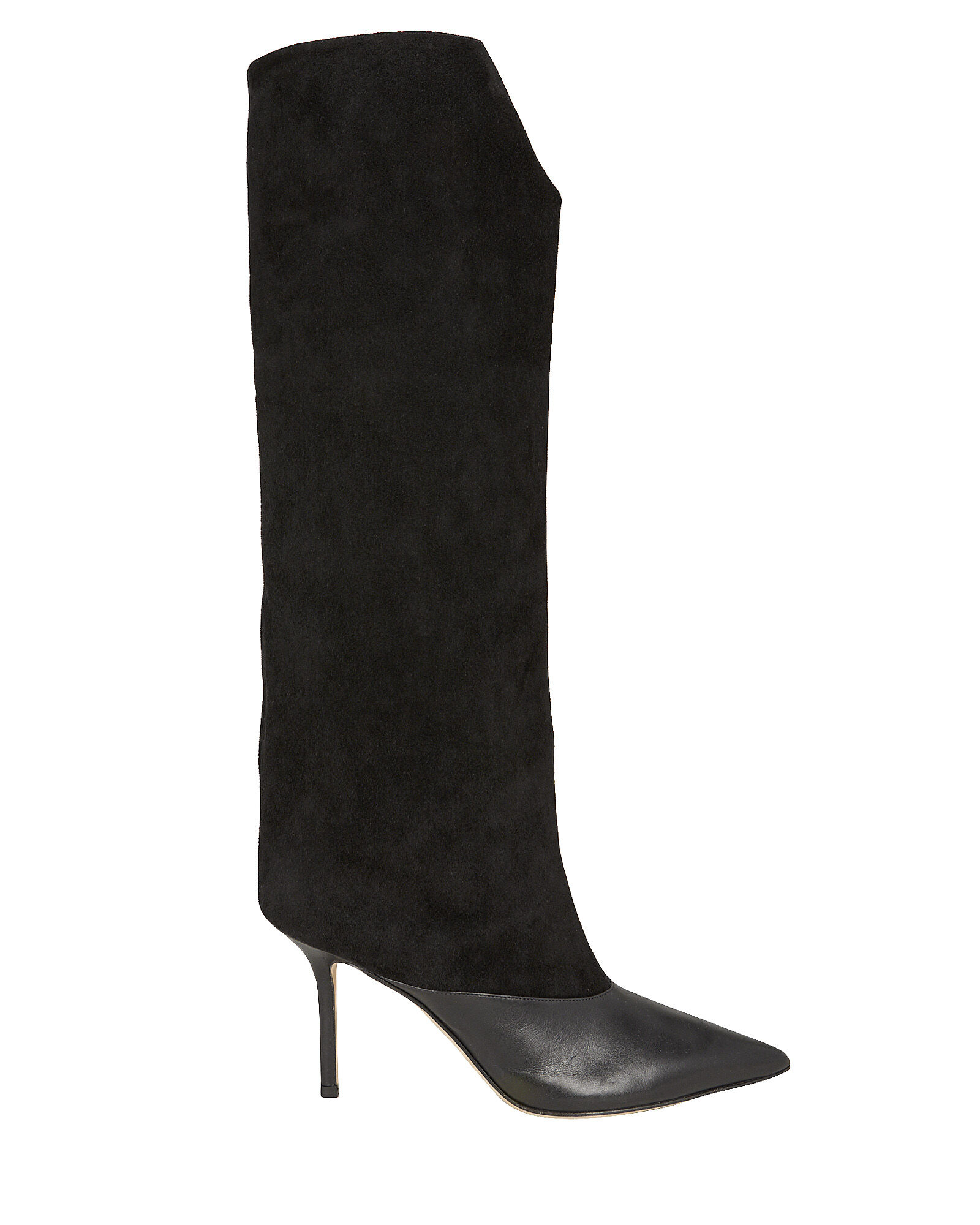 Brelan Knee-High Leather Boots, BLACK, hi-res