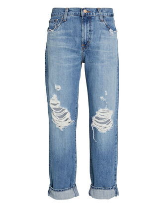 Tate Distressed Boyfriend Jeans, , hi-res