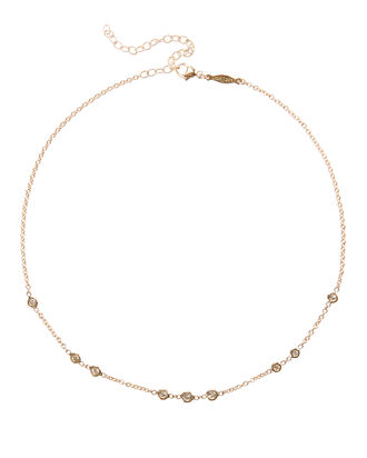1x2x3 Diamond Choker Necklace, YELLOW GOLD, hi-res