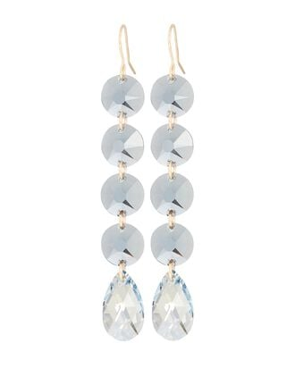 Crystal Drop Earrings, BLUE-LT, hi-res