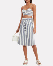 Newport Midi Skirt, NAVY/WHITE, hi-res