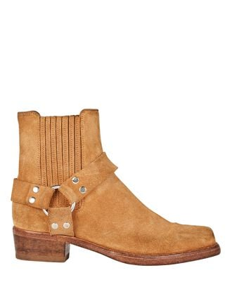 Cavalry Leather Ankle Boots, BROWN, hi-res