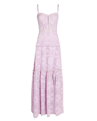 Juliette Broderie Anglaise Bustier Gown, LIGHT PURPLE, hi-res