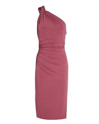 High Roller One-Shoulder Dress, PINK, hi-res
