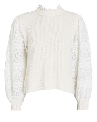 Iris Puff Sleeve Sweater, , hi-res