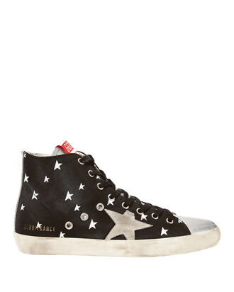 Francy Cosmo High-Top Canvas Sneakers, BLACK, hi-res