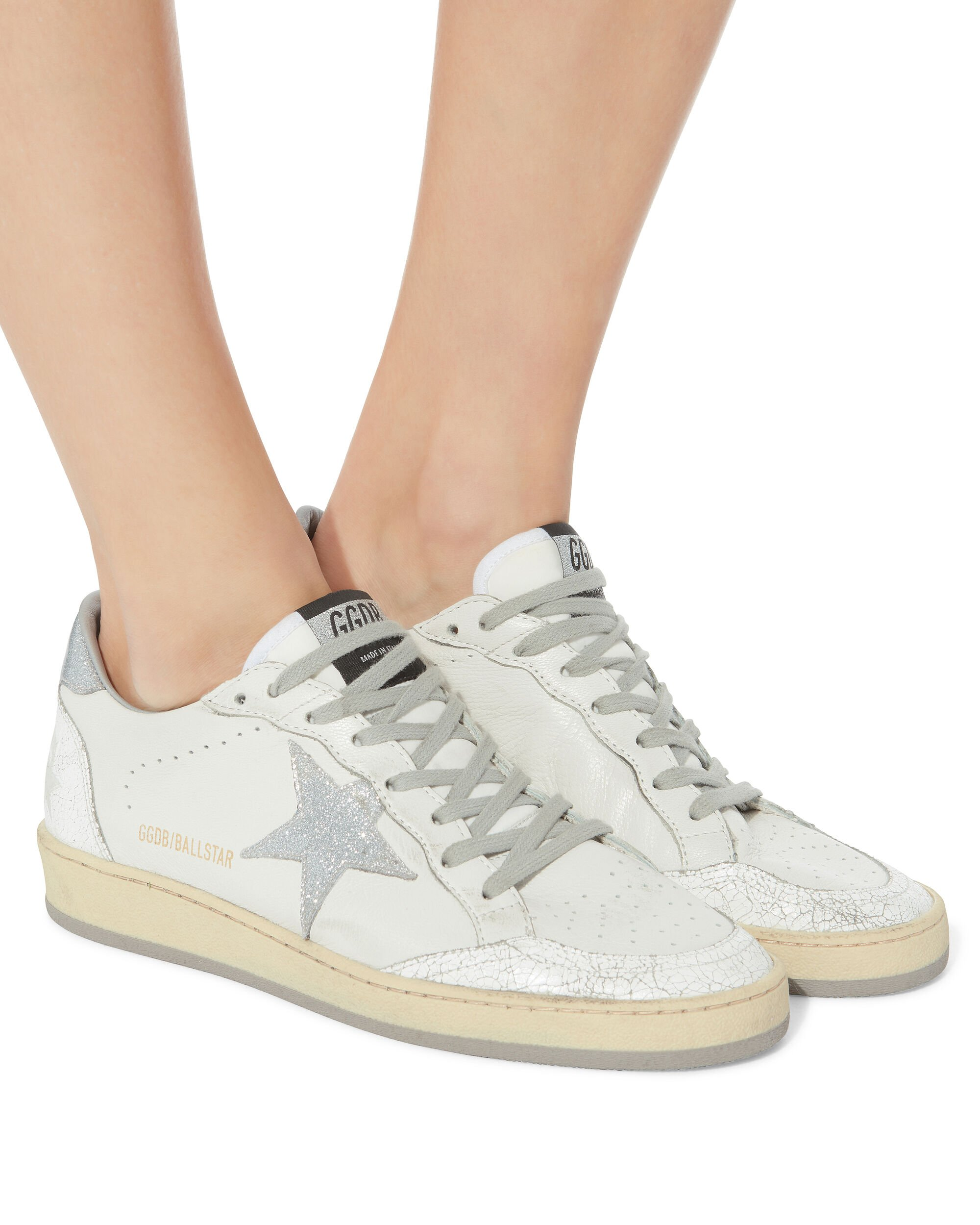 Ball Star Silver Star Low-Top Sneakers, WHITE, hi-res