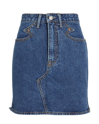Odette Denim Skirt, INDIGO WASH DENIM, hi-res