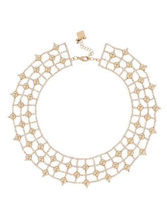 Barcelo Crystal Cage Choker, GOLD, hi-res