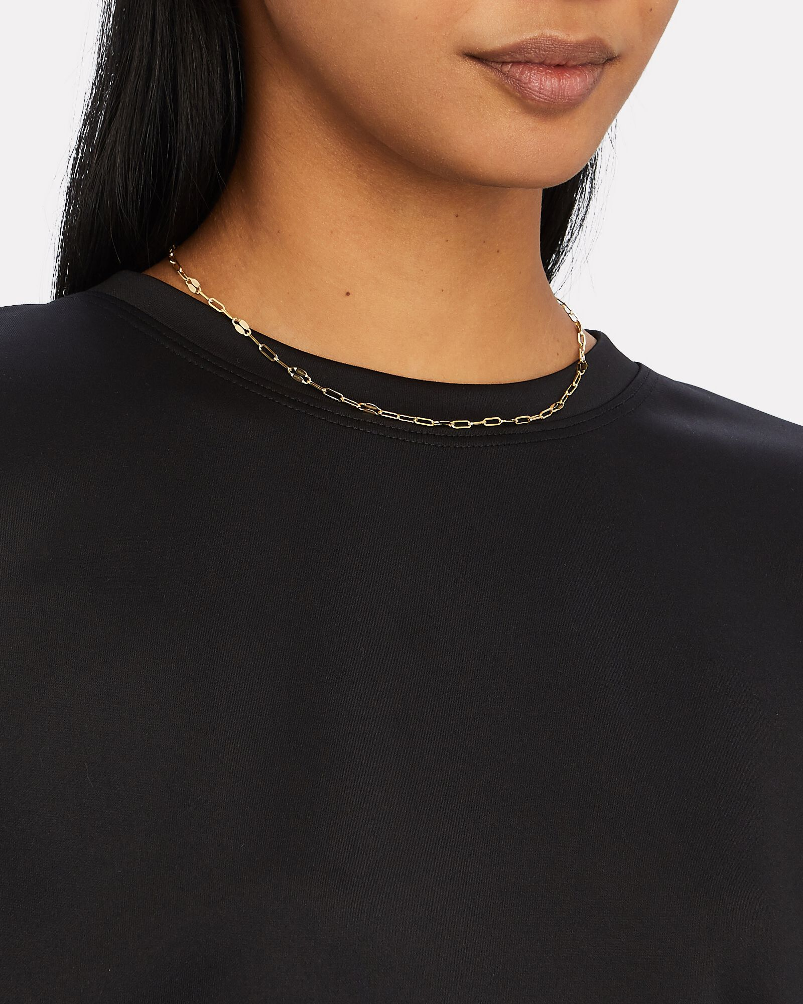Mirror Chain Necklace, GOLD, hi-res