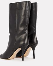 x Pernille Teisbaek Pointed Leather Booties, BLACK, hi-res