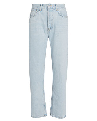 Stove Pipe High-Rise Jeans, LIGHT WASH DENIM, hi-res
