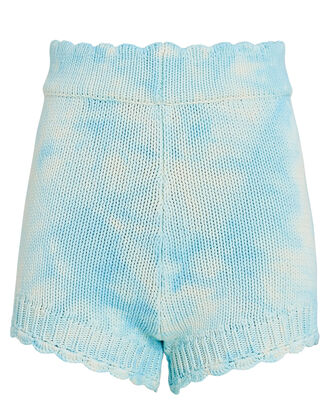 Karissa Tie-Dye Knit Shorts, LIGHT BLUE, hi-res