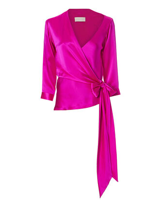 Asymmetric Wrap Top, PINK, hi-res