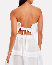 Operato Pleated Linen Bustier, WHITE, hi-res