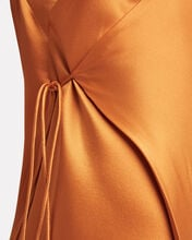 Strappy Silk Wrap Dress, ORANGE, hi-res