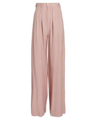 Fabi Pleated Wide-Leg Pants, ROSE, hi-res