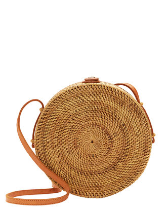 Jana Circle Shoulder Bag, BEIGE, hi-res