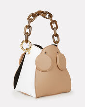 Pepper Colorblocked Mini Bucket Bag, BROWN/WHITE, hi-res