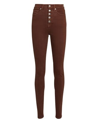 Maera High-Rise Skinny Jeans, BROWN, hi-res