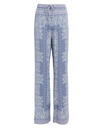 Dominique Paisley Print Pants, BLUE-LT, hi-res