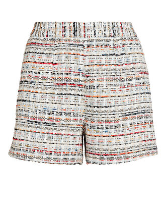 Ashton Tweed High-Waist Shorts, ORANGE/BLUE, hi-res