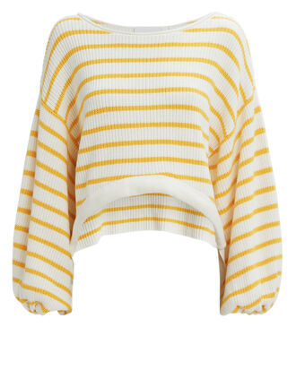 Rocco Striped Sweater, WHITE/YELLOW, hi-res