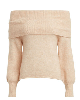Off-The-Shoulder Sweater, BEIGE MELANGE, hi-res