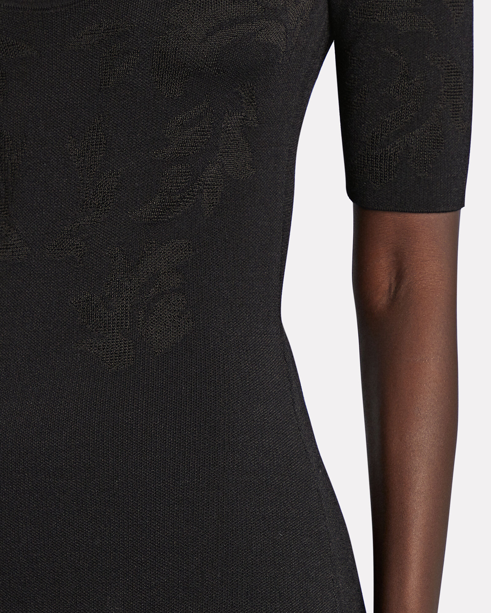 Floral Jacquard Knit Midi Dress, , hi-res