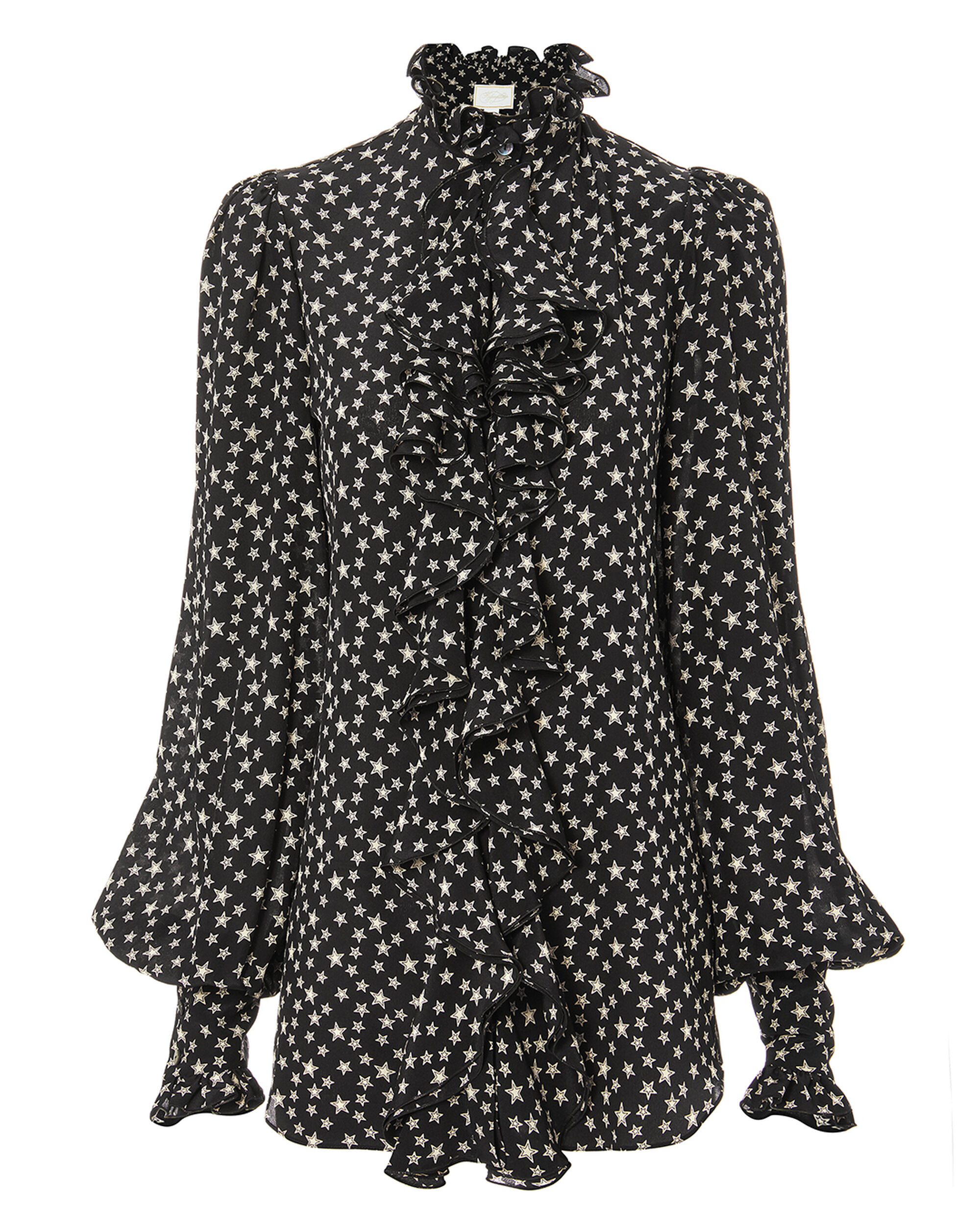 Victorian Star Blouse, BLACK, hi-res
