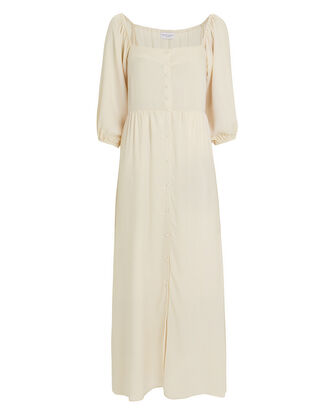 Helena Button Front Chiffon Dress, IVORY, hi-res