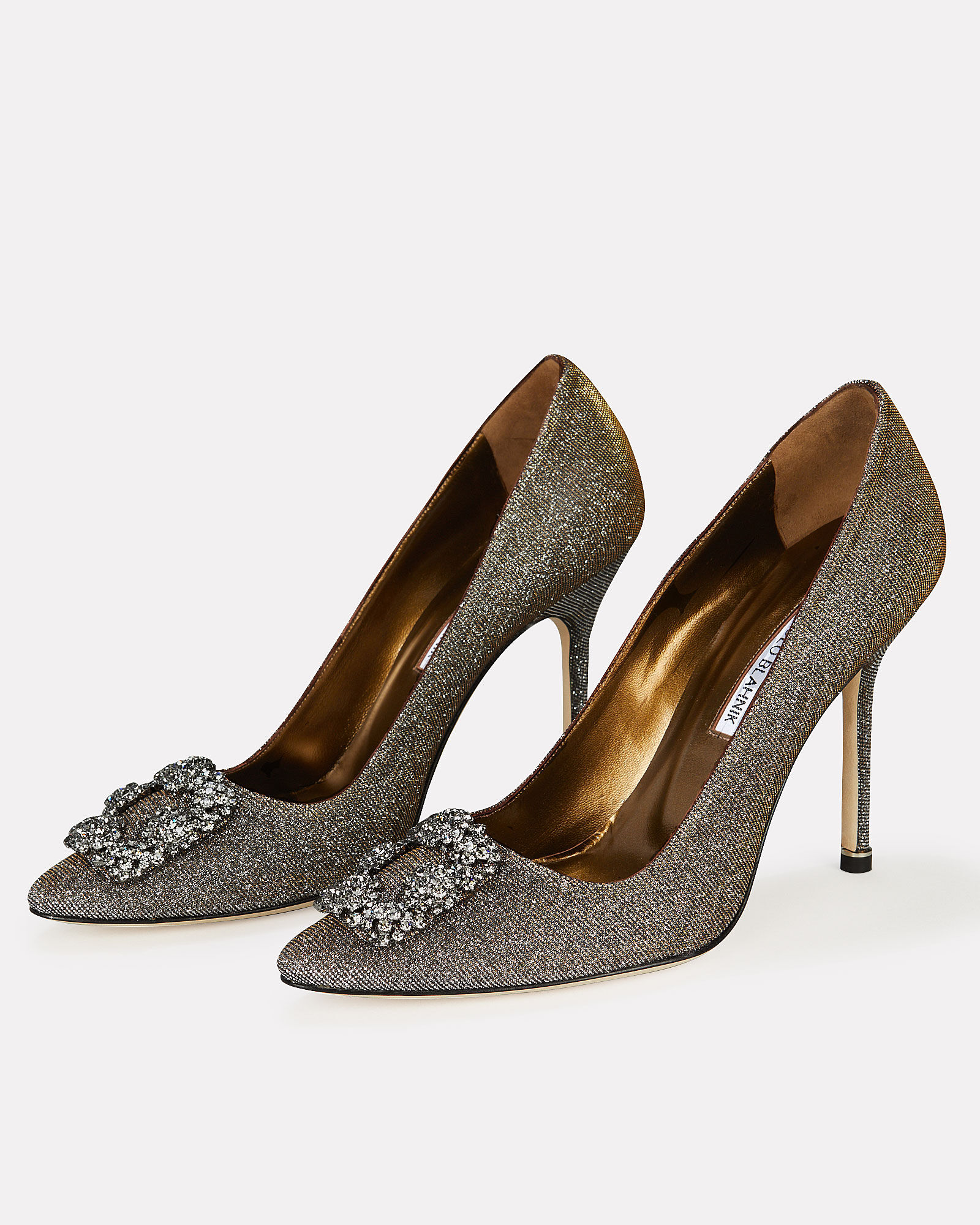 Hangisi Crystal Pumps, SILVER, hi-res