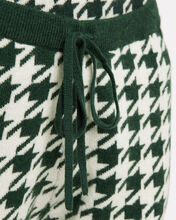 Alice Cashmere-Wool Houndstooth Joggers, GREEN, hi-res