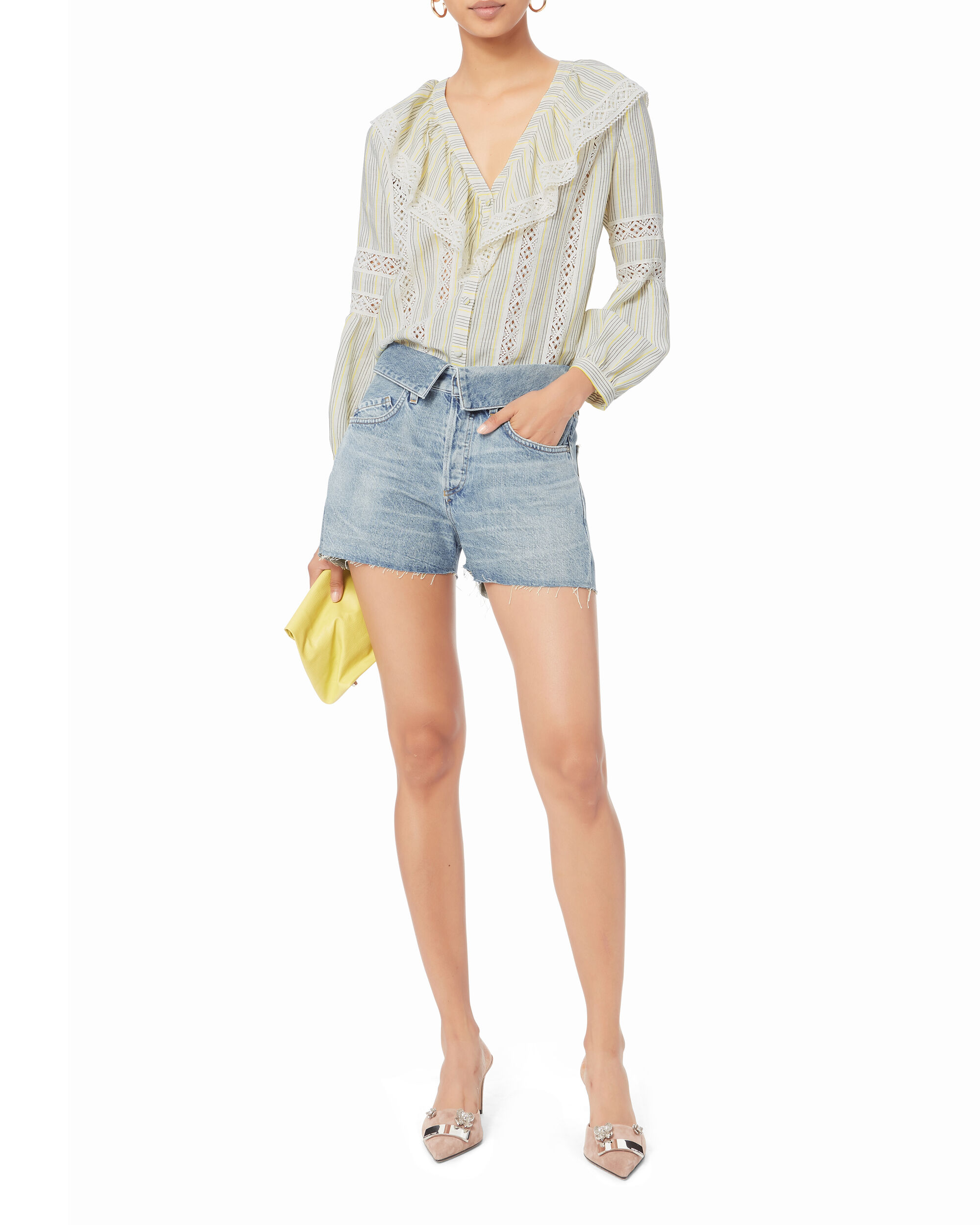 Flip Denim Shorts, DENIM, hi-res