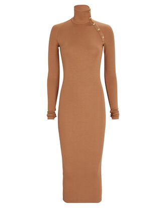 Lisbon Turtleneck Midi Dress, BROWN, hi-res