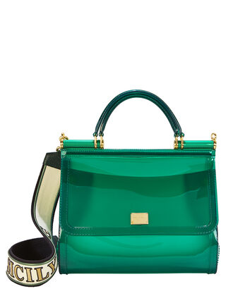 Sicily Green Rubber Bag, GREEN, hi-res