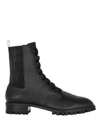 Jackson Leather Combat Boots, BLACK, hi-res