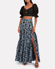 Serence Faille Maxi Skirt, MULTI, hi-res