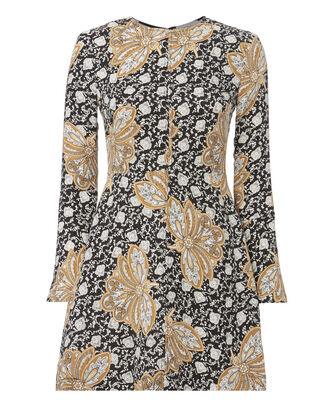 Trixie Bell Sleeve Dress, PRINT, hi-res