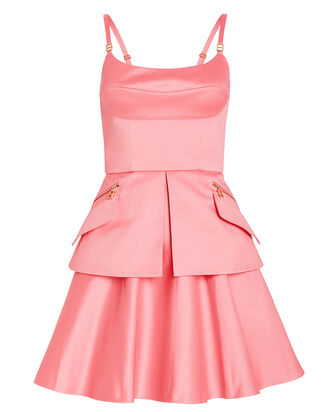 Bustier Cotton Strapless Dress, PINK, hi-res