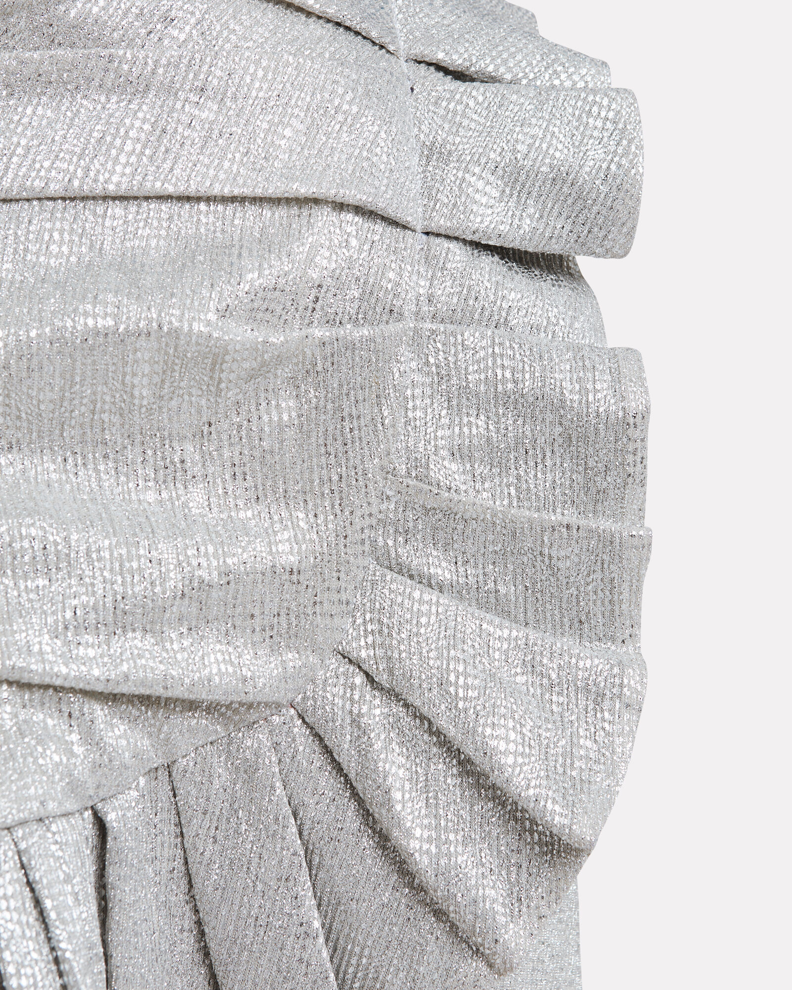 Sparkle Lamé Mini Skirt, SILVER, hi-res