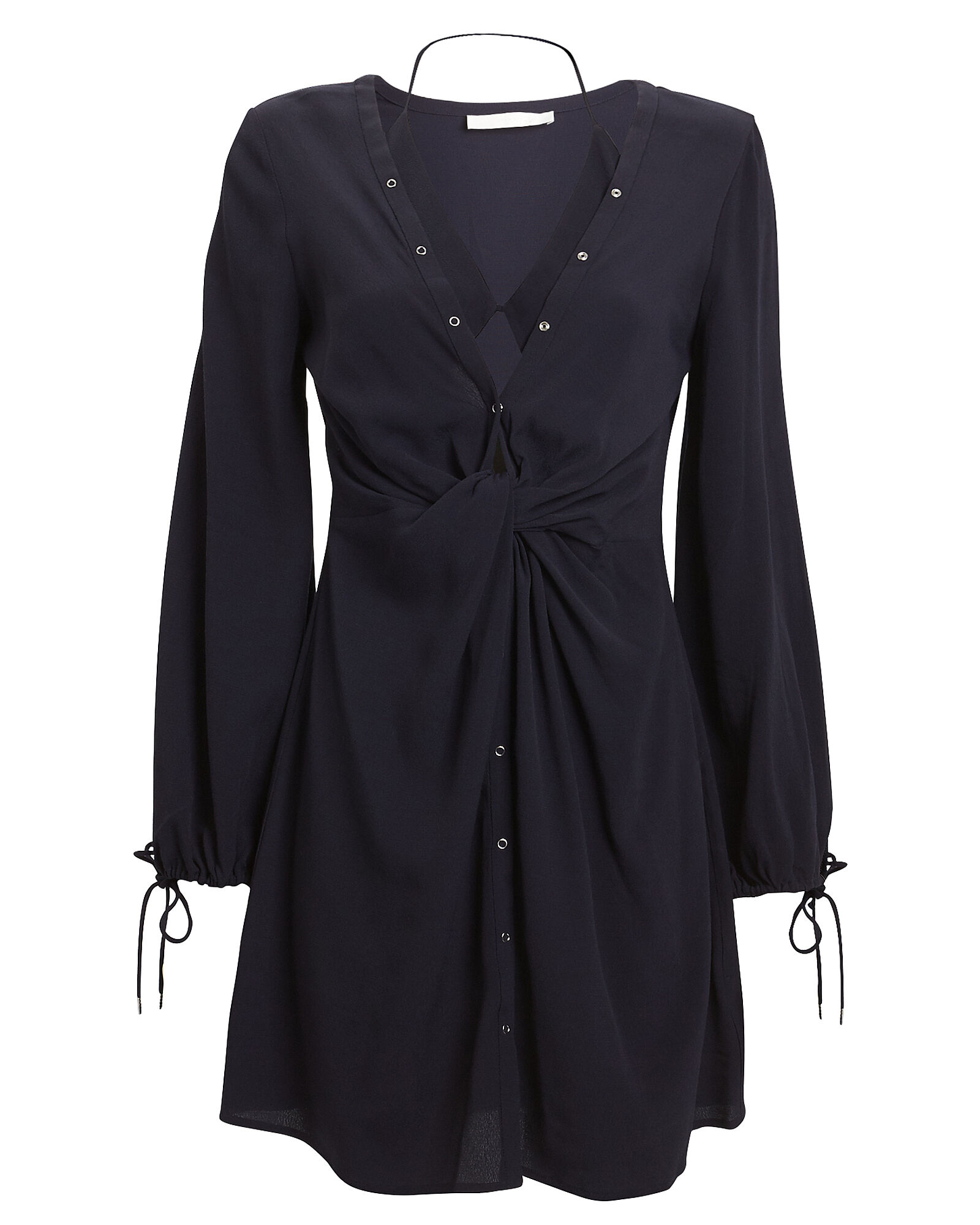 Twist Placket Tunic Dress, NAVY, hi-res